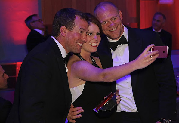 Peter Phillips, Princess Eugenie and Mike Tindall attend End of Silence charity event at Abbey Road Studios, in aid of Hope and Homes for children in London