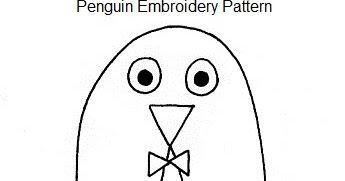 Bugs and Fishes by Lupin: Penguin Embroidery Pattern