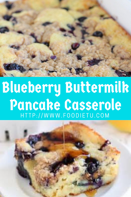 Blueberry Buttermilk Pancake Casserole