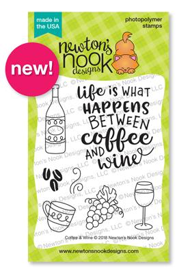 Coffee & Wine Stamp Set by Newton's Nook Designs #newtonsnook