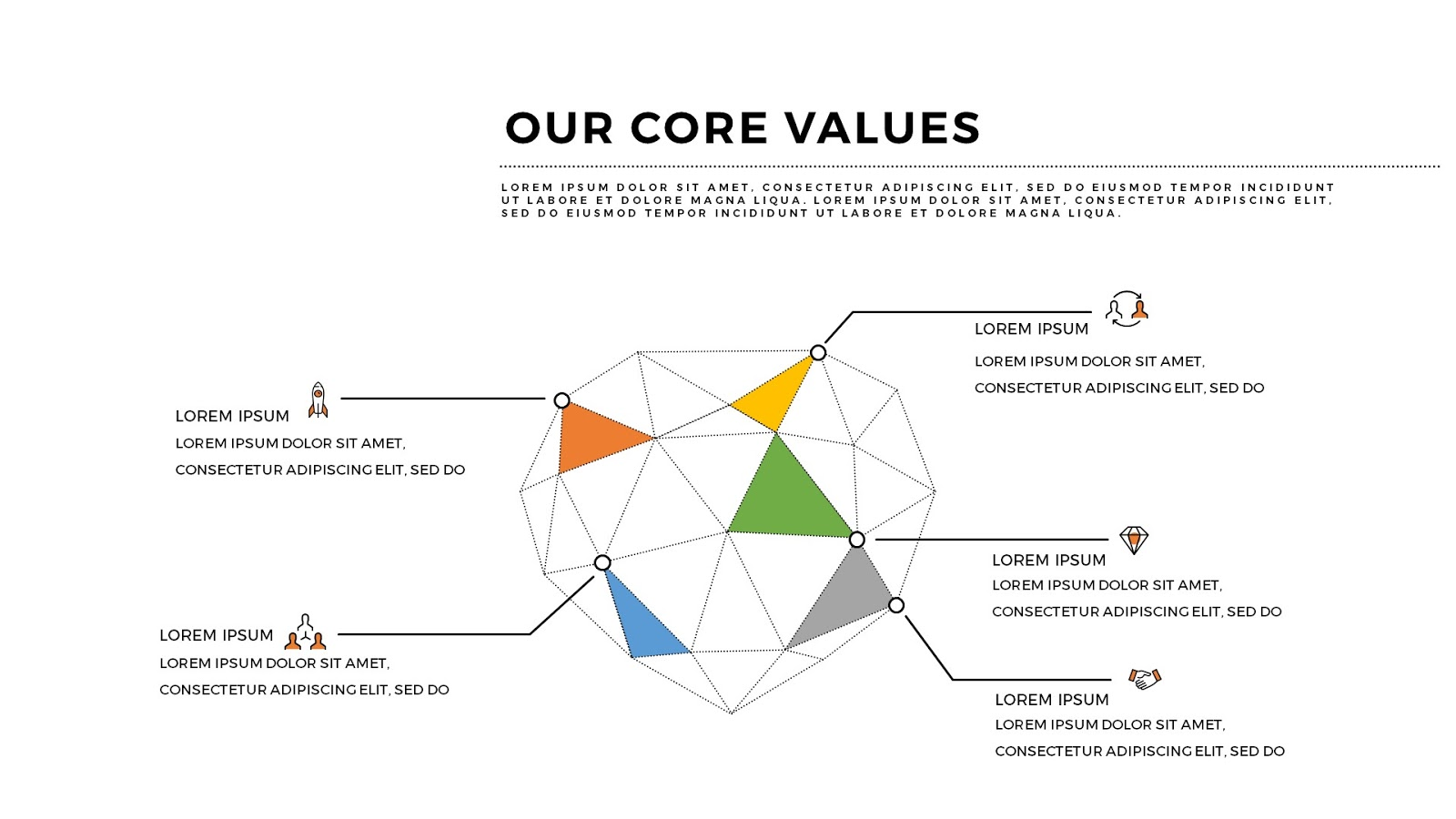 presentation on our core values with free powerpoint template