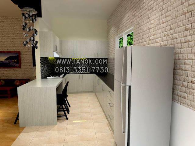 desain kitchen set minimalis murah