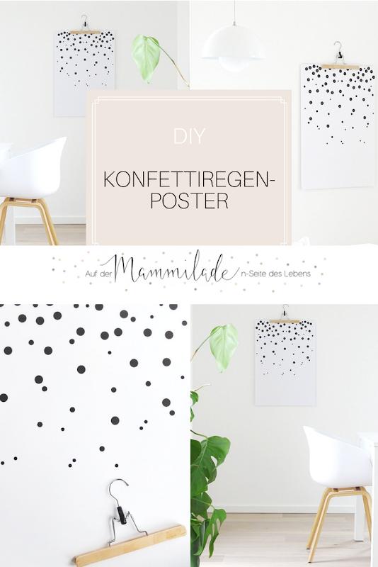 DIY Konfetti-Wandbild | Fotoaktion #12von12 - 1 Tag in 12 Bildern | https://mammilade.blogspot.de
