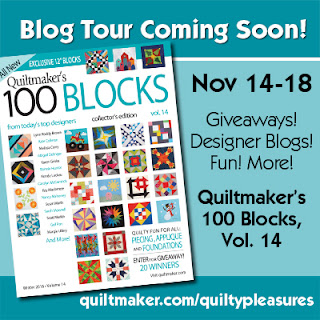 http://www.quiltmaker.com/blogs/quiltypleasures/tag/100-blocks-vol-14-blog-tour/