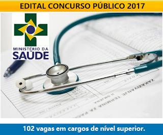 Apostila Ministério da Saúde 2017 - Todos os Cargos nível Superior.
