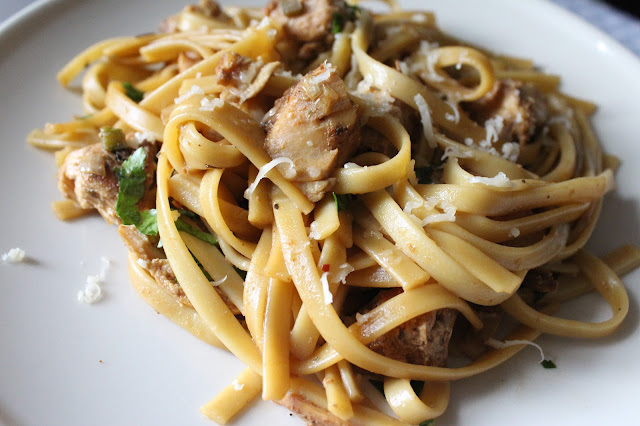 This pasta is very versatile and any of your favorite veggies and herbs can be added to it.