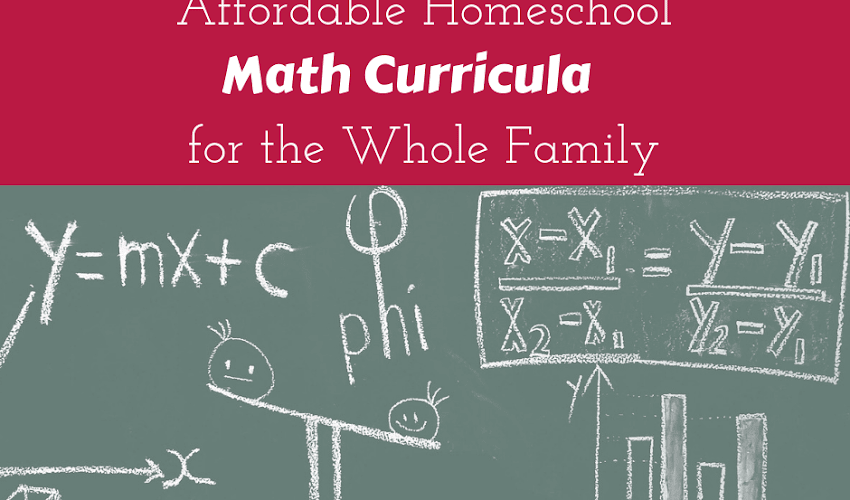 Affordable Math Curricula for Your Whole Family...And an Awesome Giveaway