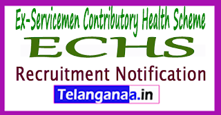 Ex-Servicemen Contributory Health Scheme ECHS Recruitment Notification 2017