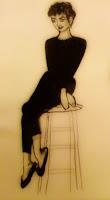 Disegno: Audrey Hepburn