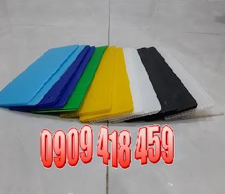 Tấm nhựa carton màu