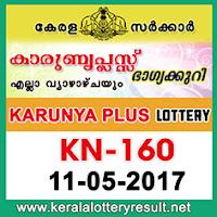 11-05-2017 KARUNYA-PLUS Lottery Result KN-160