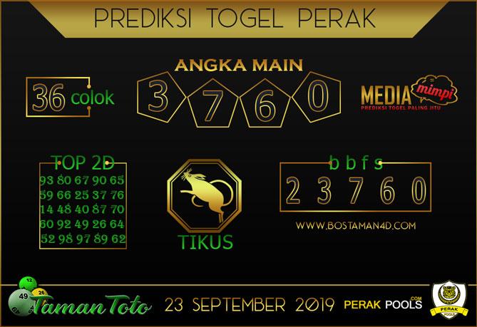 Prediksi Togel PERAK TAMAN TOTO 23 SEPTEMBER 2019