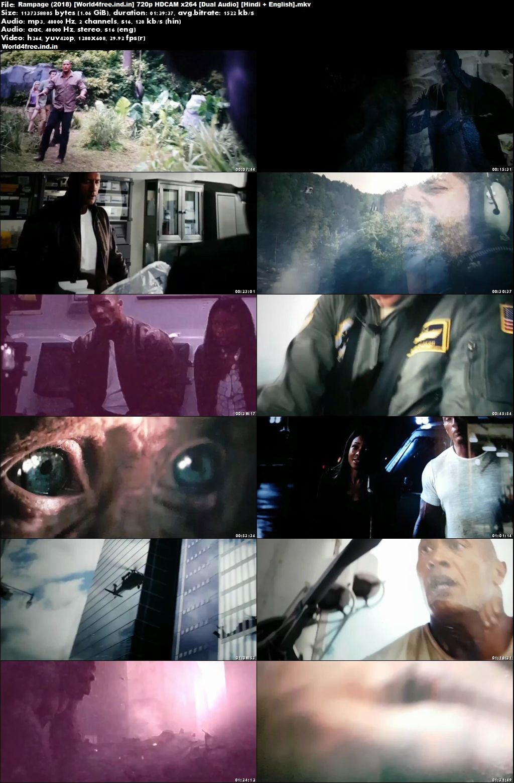 Rampage 2018 world4free.ind.in Full Dual Audio Hindi Movie Download HDCAM