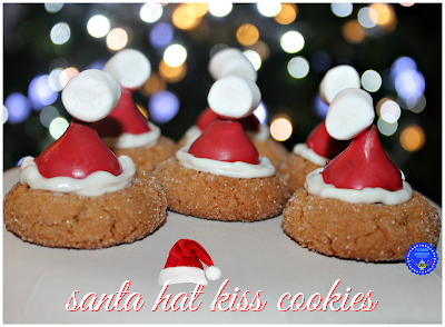 Santa Hat Cookies, shared by Hoola Palooza