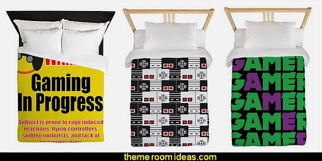 gamer bedding  Gamer bedroom - Video game room decor - gamer bedroom furniture - gamer wall decal stickers - Super Mario Brothers Wall Stickers - gamer bedding