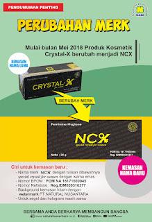 NCX Nama Baru Crystal X