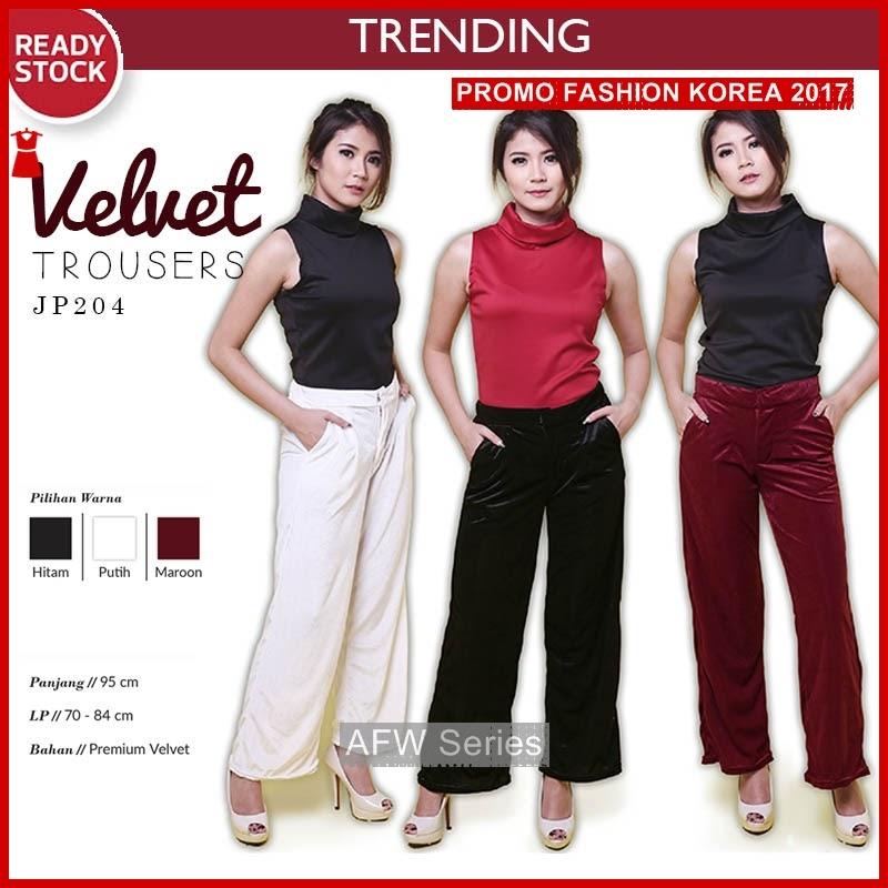 BAMFGW183 Velvet Celana Panjang Wanita PROMO