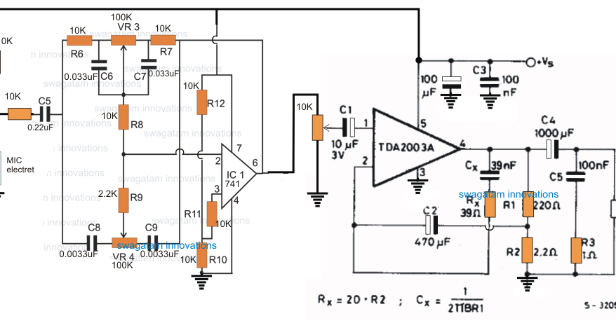electronic stethescope amplifier circuit