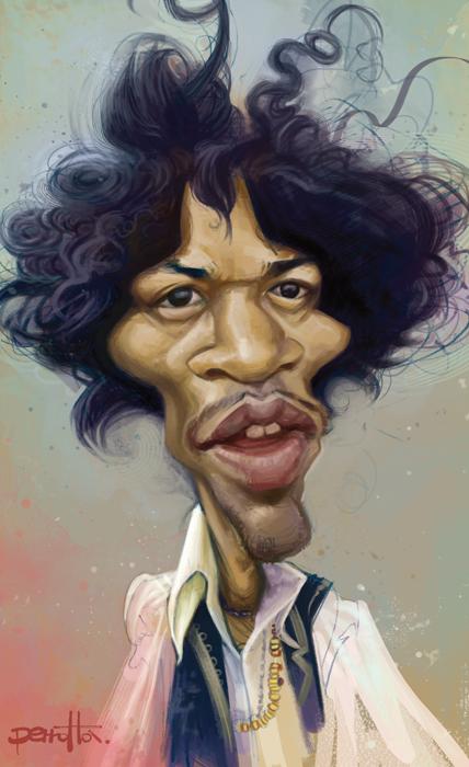 """""""Jimi Hendrix"""" por Mario Perrotta"""