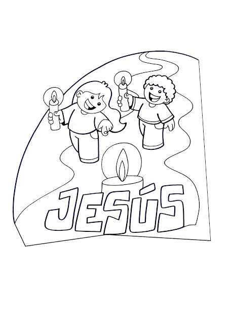 La Catequesis (El blog de Sandra): Dibujos para colorear Jesús con ...