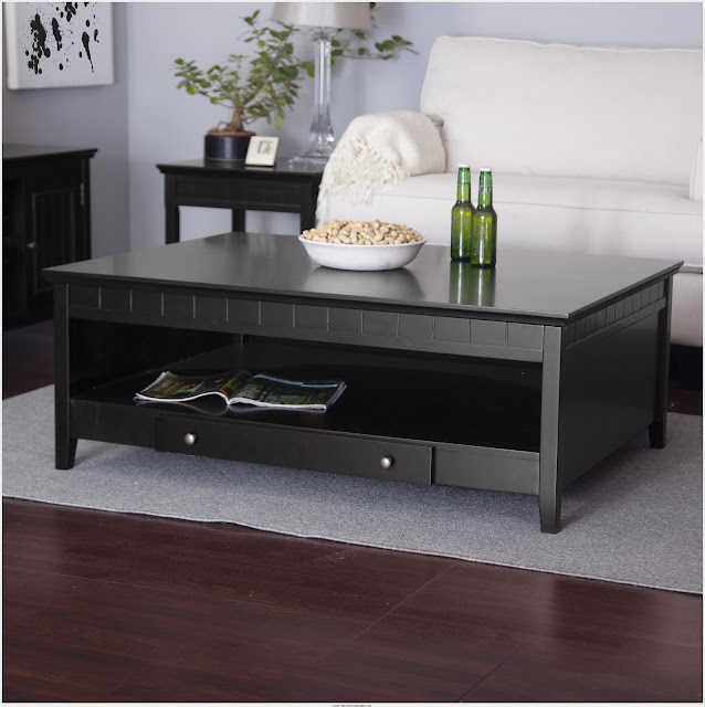 Top Black Side Table With Storage