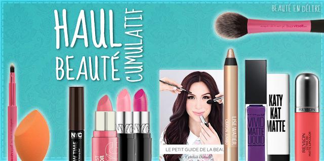 Vignette de l'article: Haul beauté cumulatif (livre, maquillages et pinceaux) par Beauté en délire.