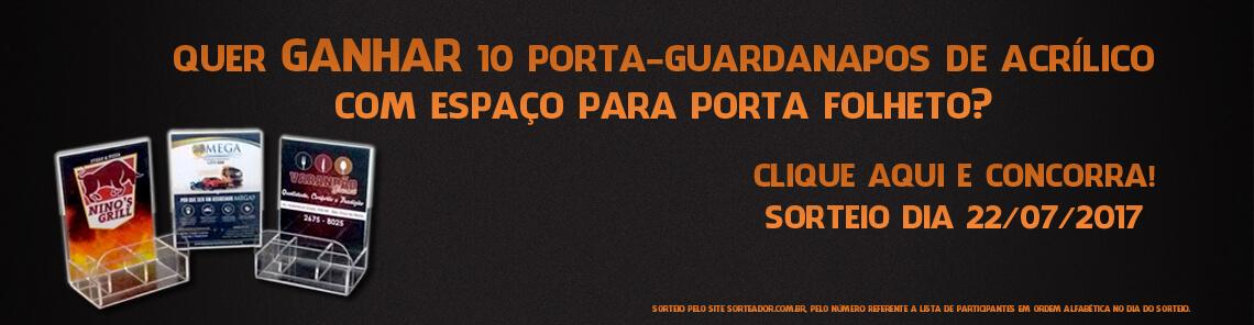 Clique aqui, siga as instruções e concorrar a 10 porta guardanapos  Código: CDPG001 !