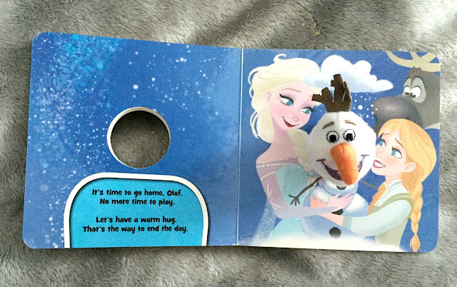 small frozen olaf finger puppet book