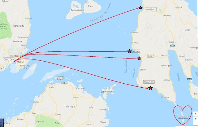 Cebu to Leyte boat schedule, cebu to hilongos, cebu to baybay, cebu to maasin, cebu to bato