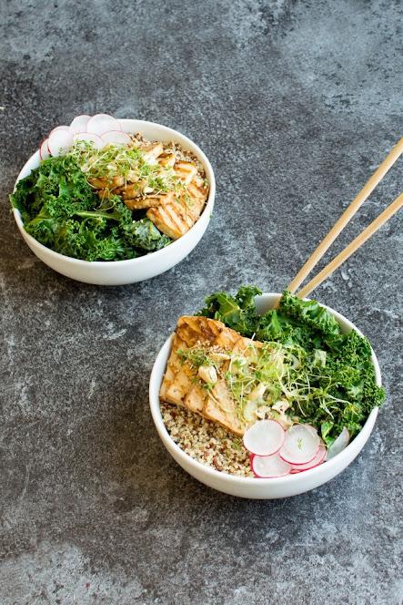 Teryaki Kale & Tofu Bowls