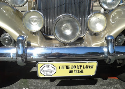 A placa do Clube MP Lafer Brasil.