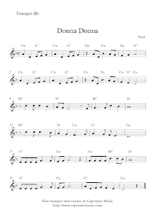 Donna Donna | Free trumpet sheet music