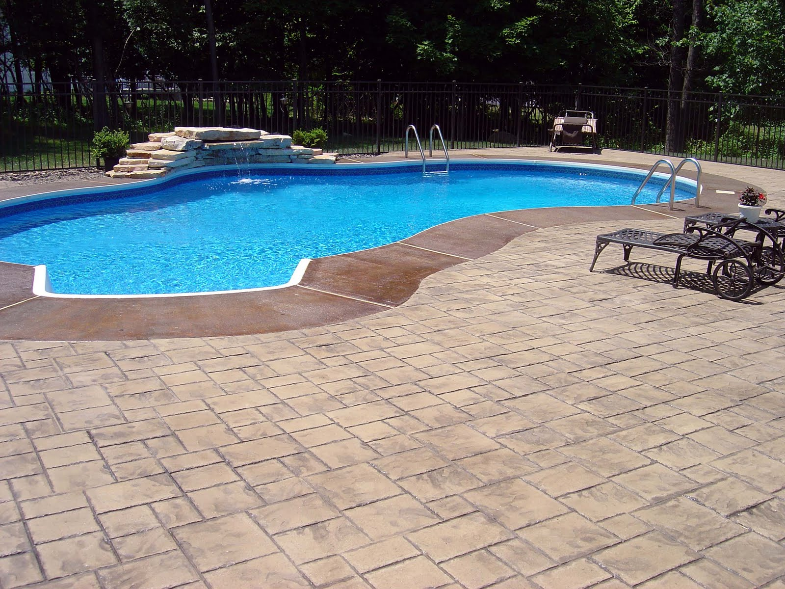 Stamped Concrete Pool