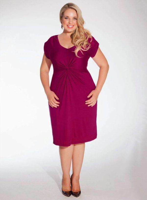 vestido violeta gorditas