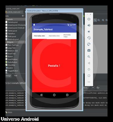 Android Studio - TabHost