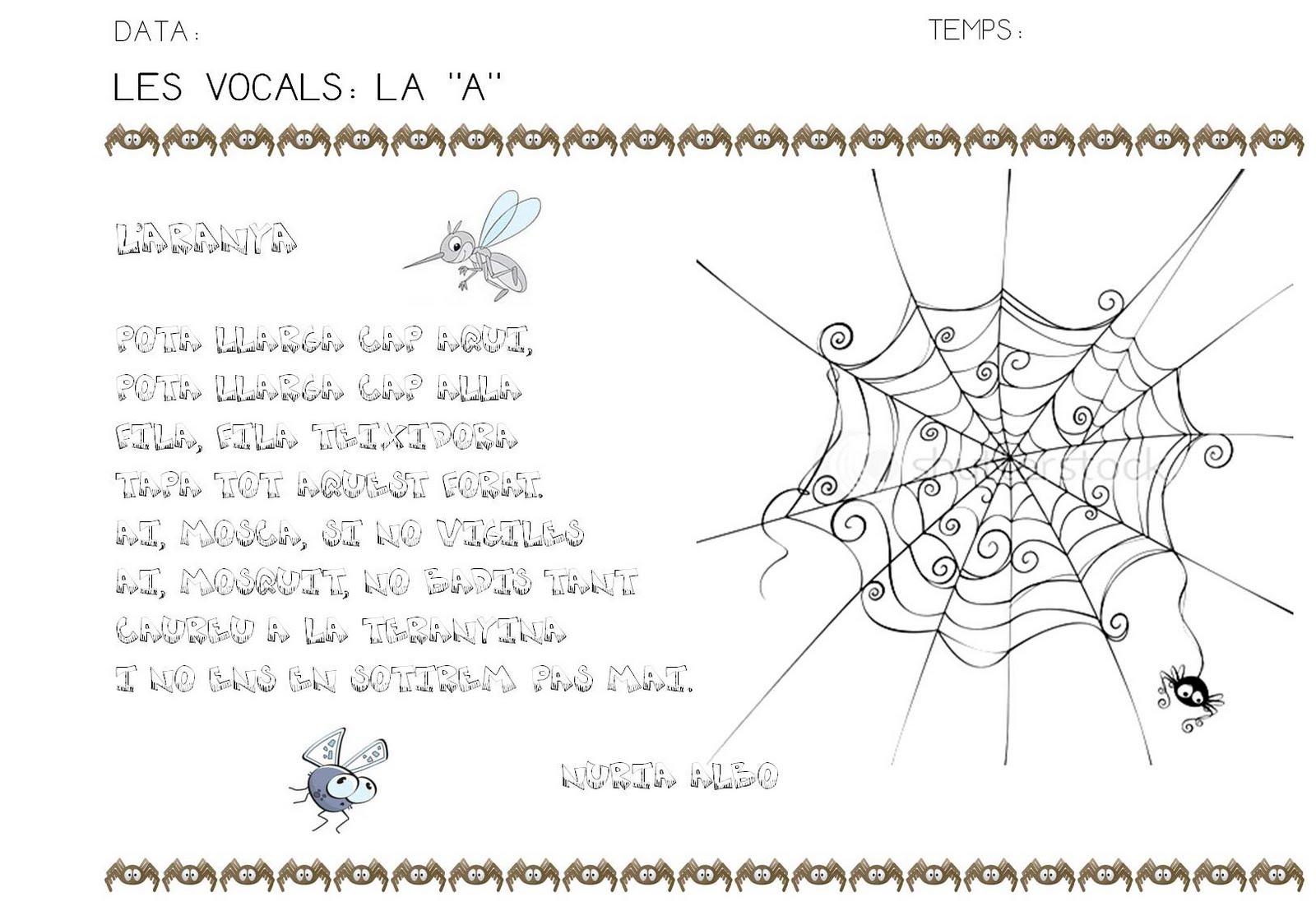 """Poesia De Las Vocales: QUÉ HACEMOS HOY EN EL COLE?: LAS VOCALES: LA """"A"""""""