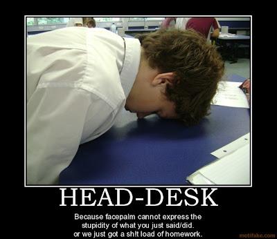head meet desk meme