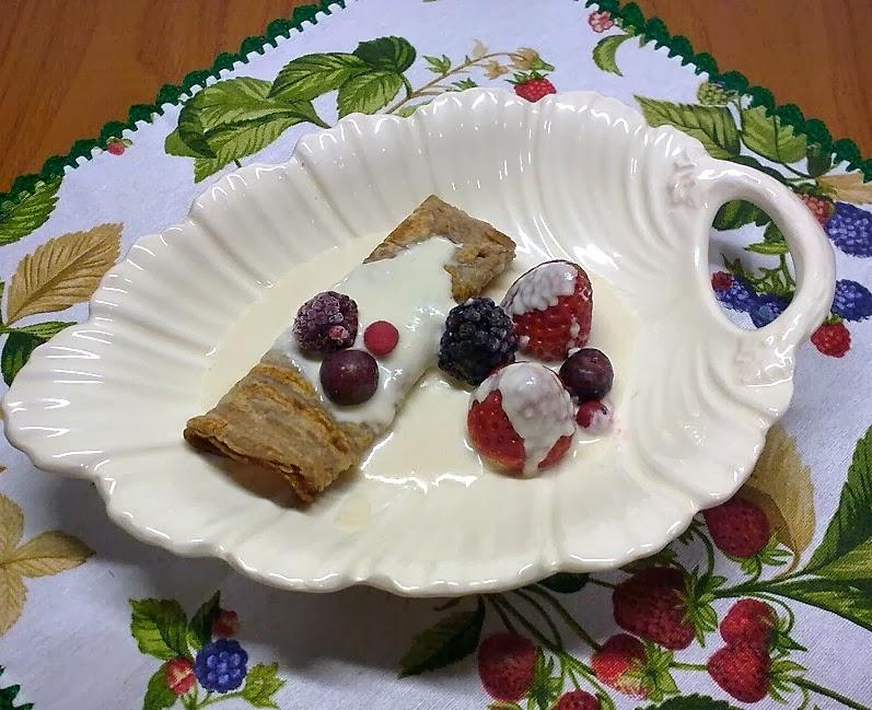 Tortitas de Castañas y Nata de Almendra.
