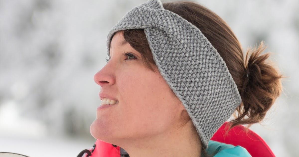 Vervliest und zugenäht: Twist Stirnband im Perlmuster