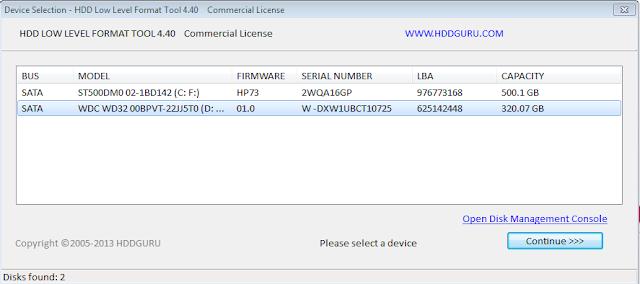 Cara Mengatasi & Memperbaiki Hardisk Rusak Mengunakan HDD LLF, Hardisk internal rusak total