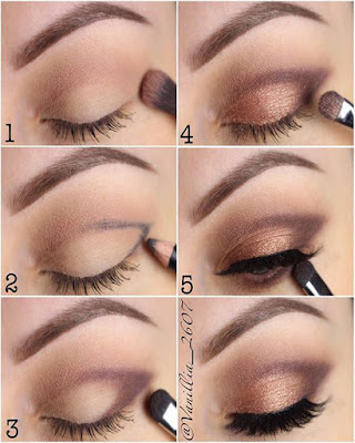 maquillaje de ojos tonos burdeos