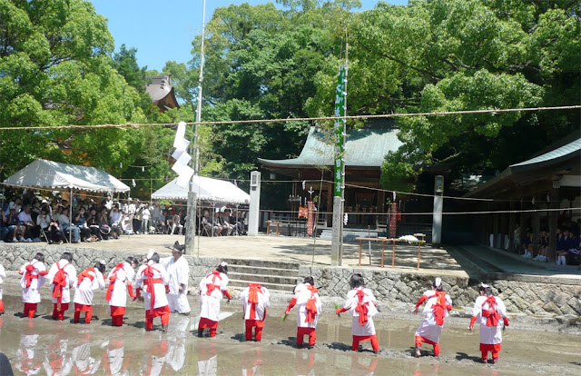 Rice-Planting Festival at O-yamazumi Jinja Shrine, O-mishima Island, Imabari, Ehime