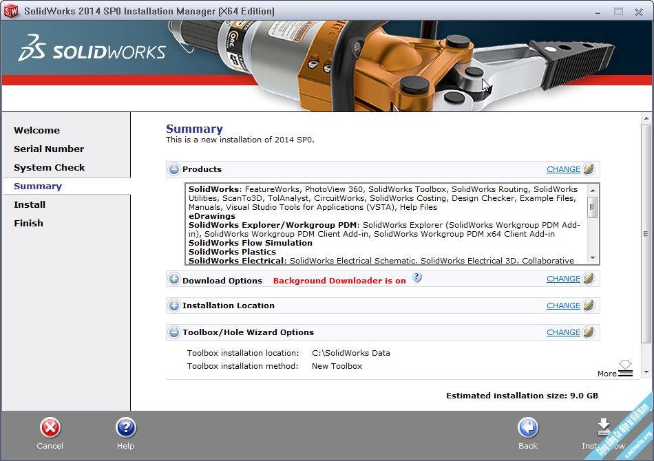 Tải phần mềm SolidWorks 2014 Full Crack