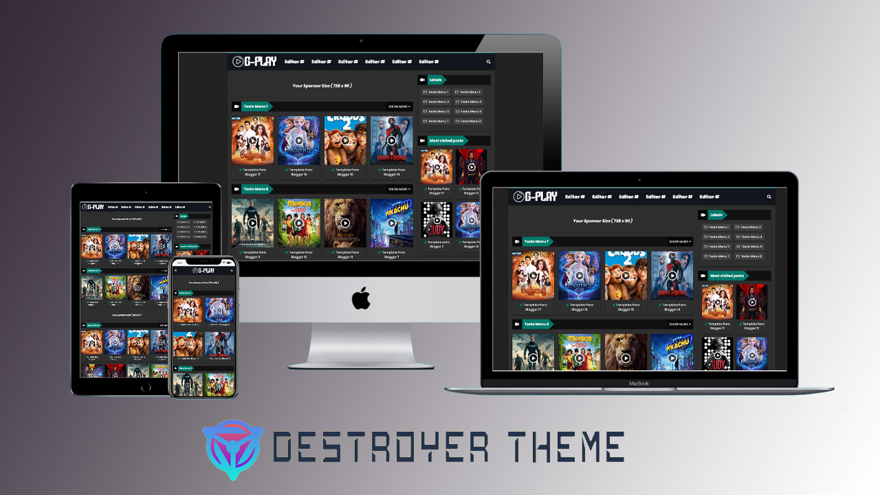 G-play Moviechor Premium Blogger Template