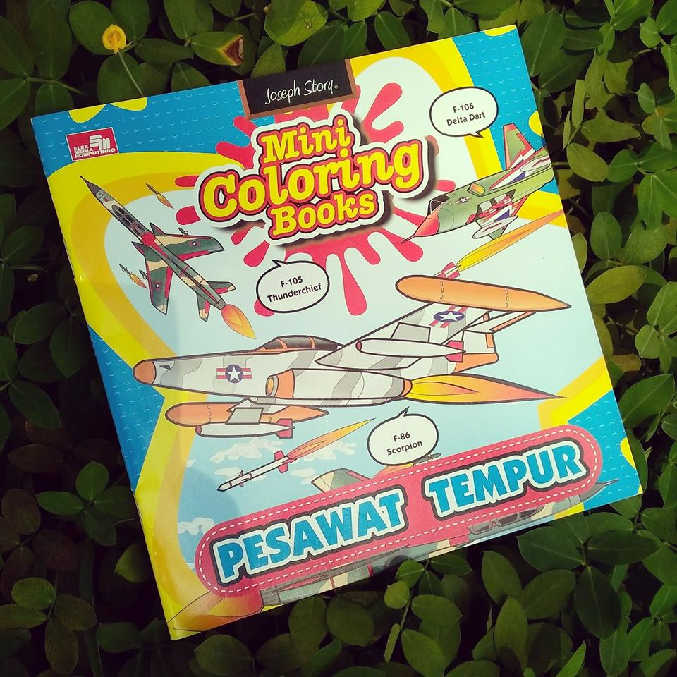 Buku Mini Coloring Books Pesawat Tempur