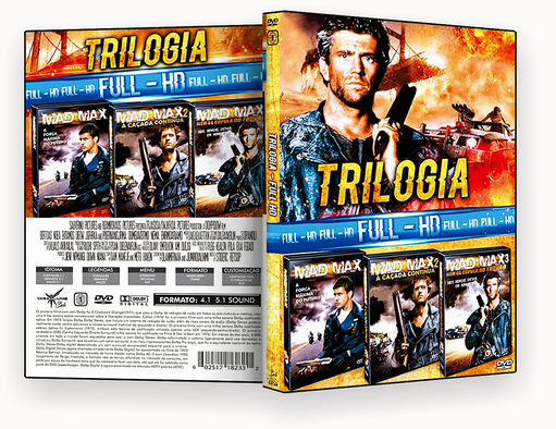 CAPA DVD – TRILOGIA FULL HD VOL 34 (2018) DVD-R