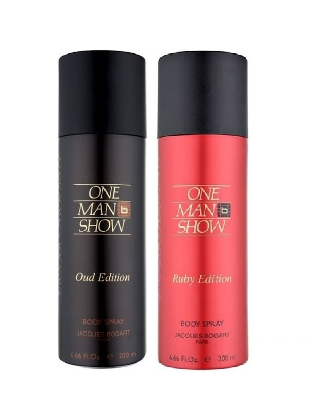 Pack Of 2 - One Man Show Oud And Ruby Edition Body Spray 200 ml