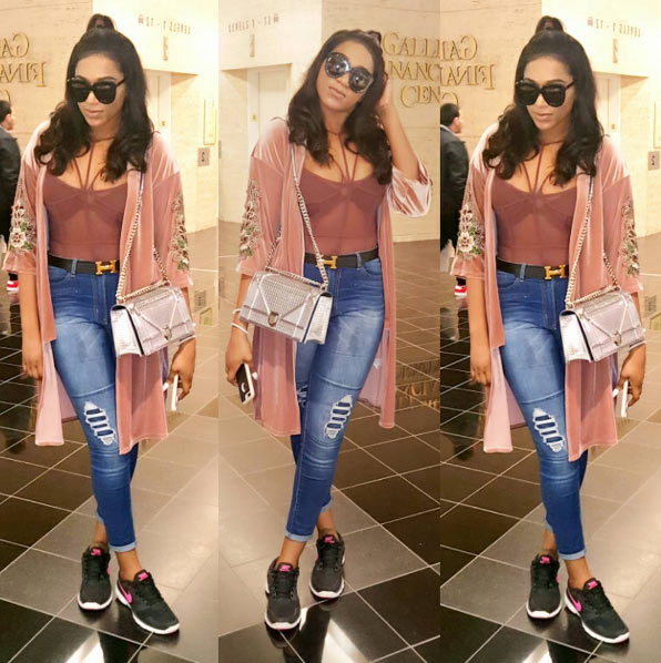 Gorgeous babe: Rukky Sanda slays in casual outfit