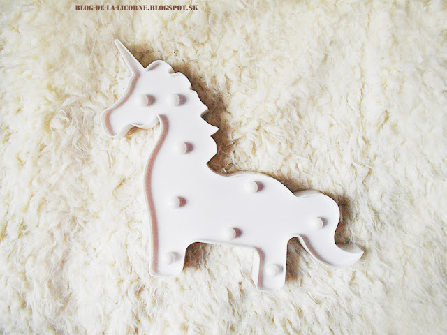 BRELONG 3D Unicorn White Decoration Night Light