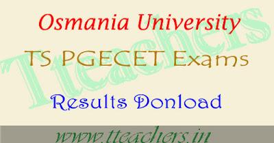 TS pgecet results 2018 manabadi & Telangana pgecet result 2018
